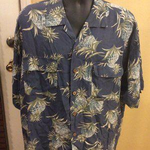 Tommy Bahama Floral Hawaiian Button Shirt XL